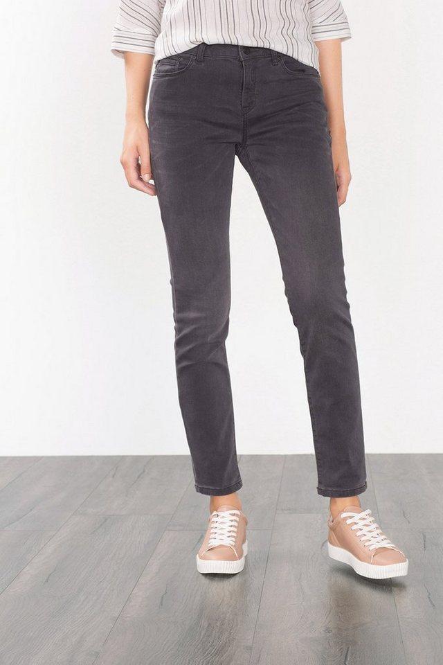 ESPRIT CASUAL Graue Sweat-Jeans im Five-Pocket-Stil in GREY MEDIUM WASHED