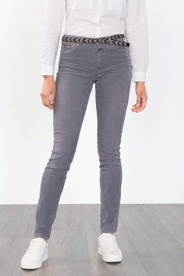 ESPRIT CASUAL Feincord-Hose aus Baumwolle/Stretch in GUNMETAL