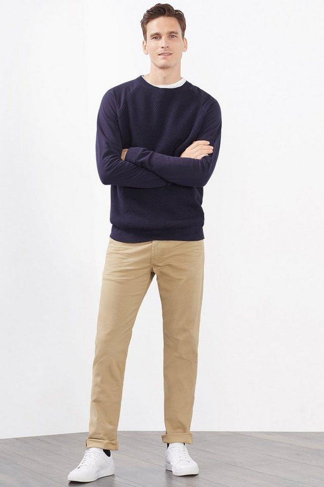 ESPRIT CASUAL 5-Pocket-Hose aus Baumwoll-Stretch in BEIGE