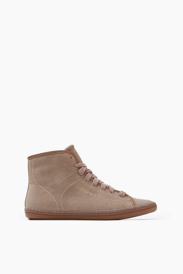 ESPRIT CASUAL Sneaker Bootie mit Webfell-Futter in KHAKI BEIGE
