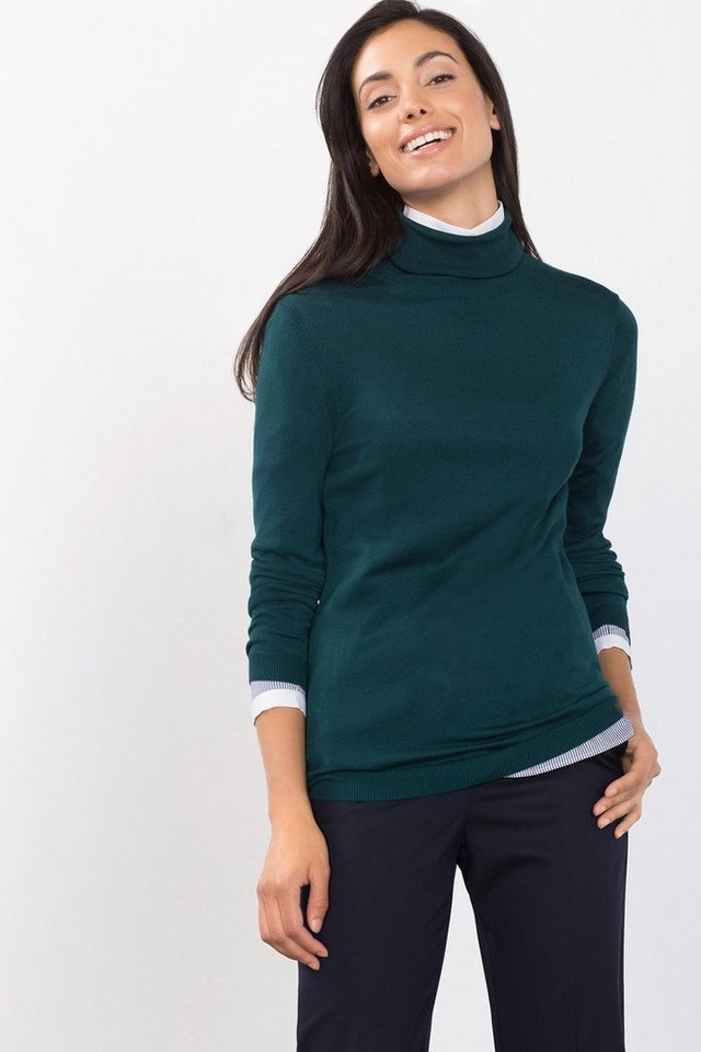 ESPRIT CASUAL Fließender Basic-Rolli in DARK TEAL GREEN