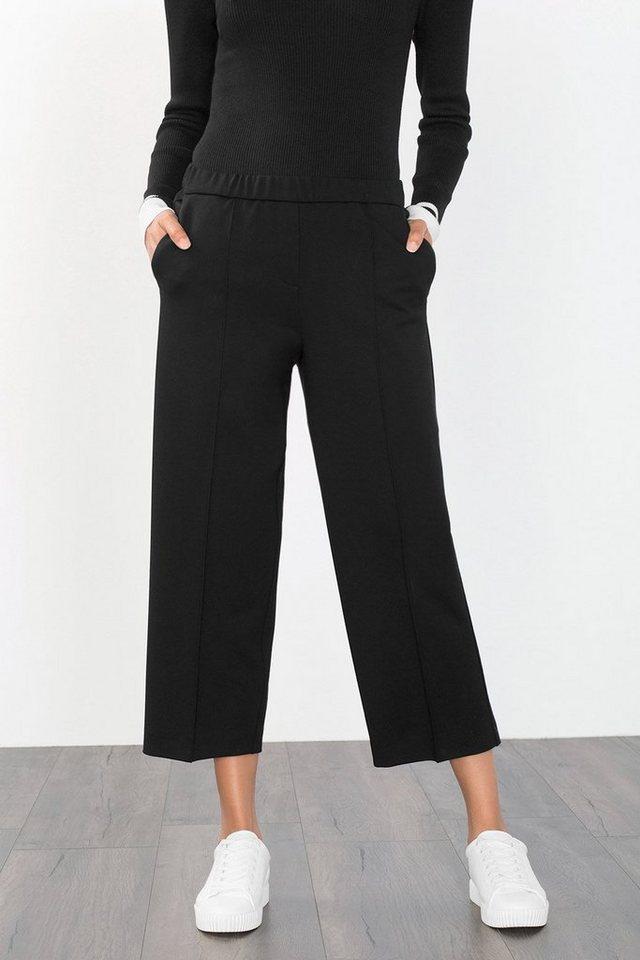 ESPRIT CASUAL Culotte aus festerem Material mit Stretch in BLACK