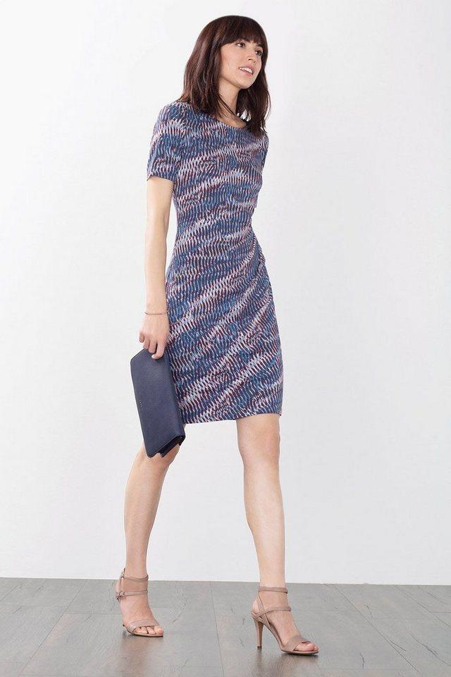 ESPRIT COLLECTION Stretch Print Kleid aus kreppigem Jersey in MAUVE