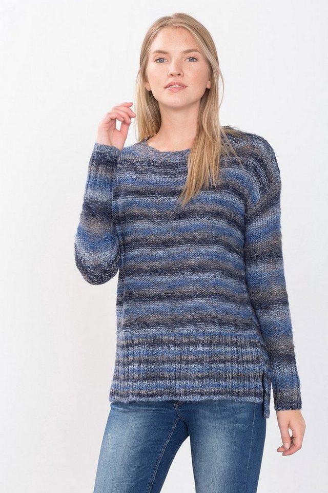ESPRIT CASUAL Pullover mit Ombre-Effekt in GREY BLUE