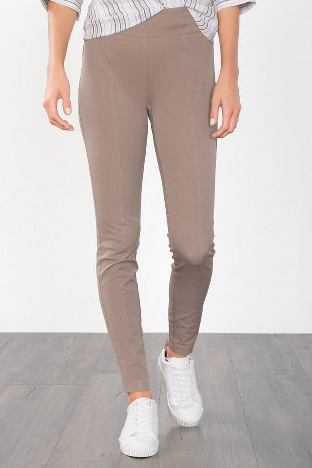ESPRIT COLLECTION Figurformende Twill-Hose in TAUPE