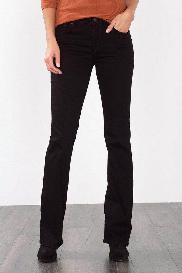 EDC Bootcut-Jeans mit Klappentaschen in BLACK RINSE