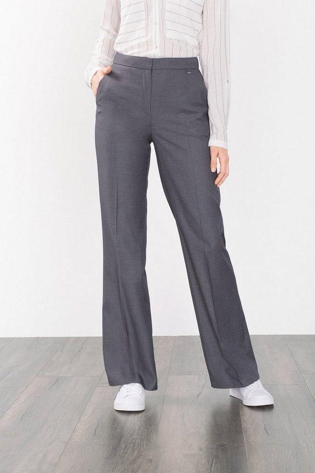 ESPRIT COLLECTION Melange Anzughose mit Wollanteil in DARK GREY
