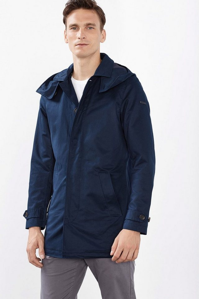 ESPRIT COLLECTION Leichter Mantel aus Baumwoll-Mix in NAVY
