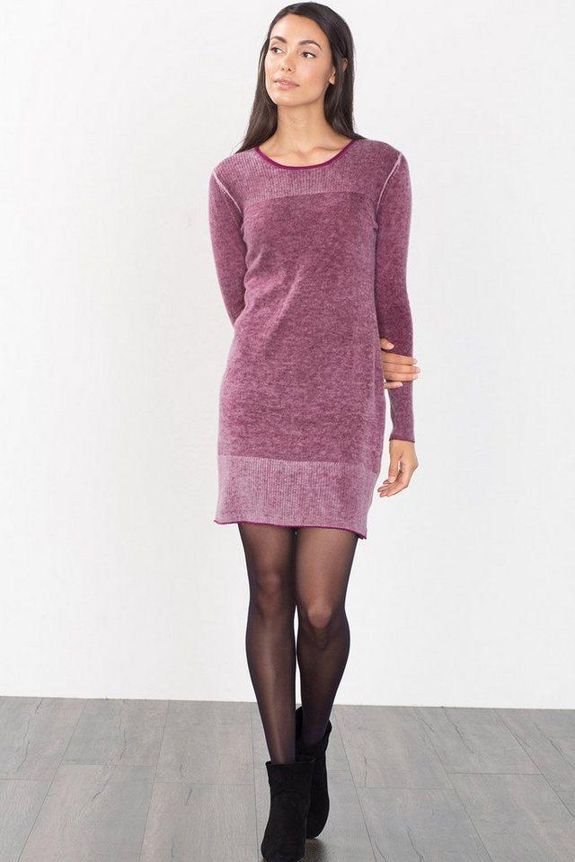 ESPRIT CASUAL Melange-Strickkleid aus Woll-Mix in DARK MAUVE