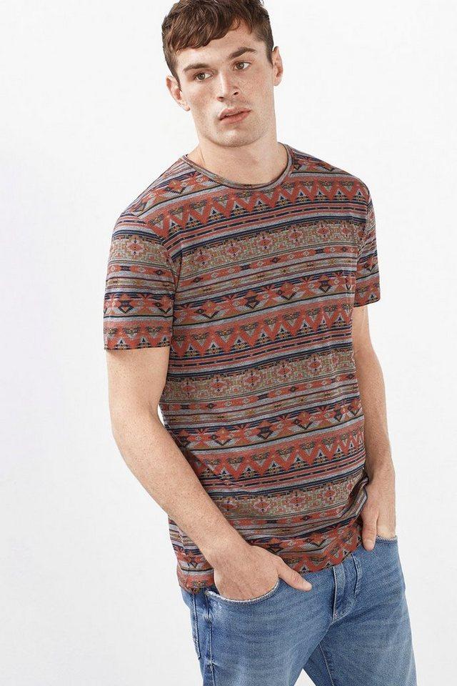 ESPRIT CASUAL Ethno-Print Jersey T-Shirt, Baumwoll-Mix online kaufen | OTTO