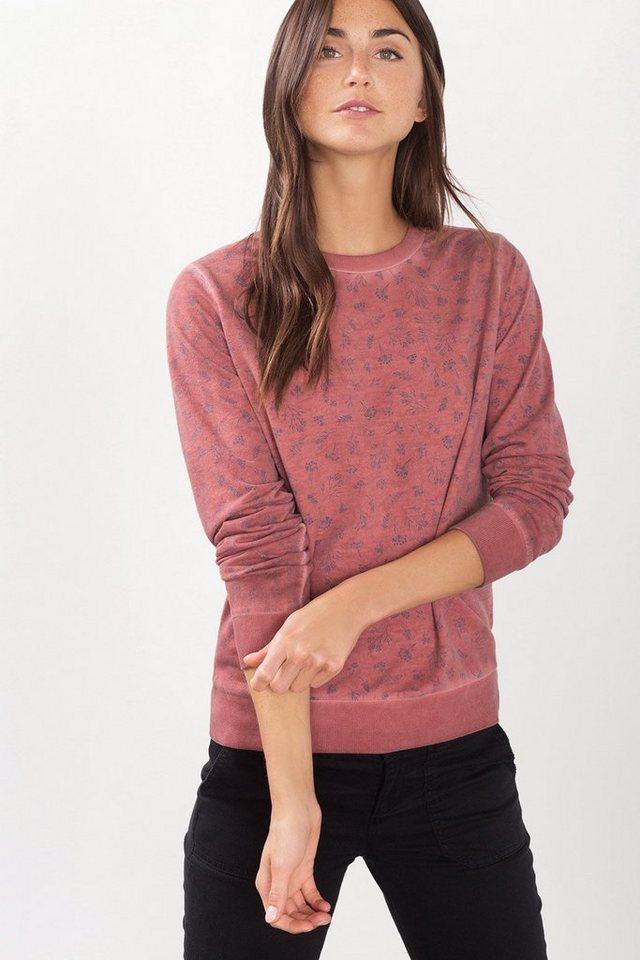 EDC Floral bedrucktes Sweatshirt in BLUSH