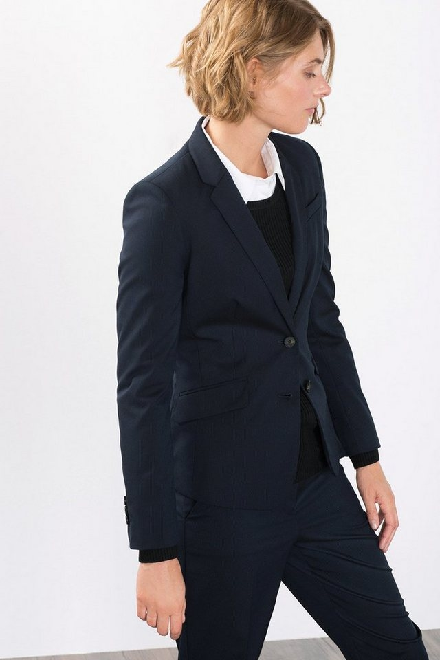 ESPRIT COLLECTION Gestreifte Anzugblazer in NAVY