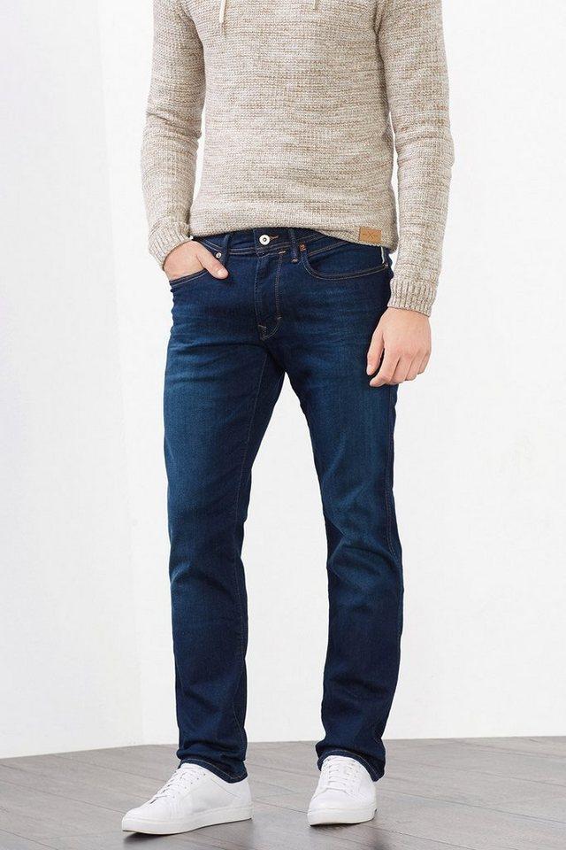 EDC Stretch Jeans aus Dynamic Denim in BLUE DARK WASHED