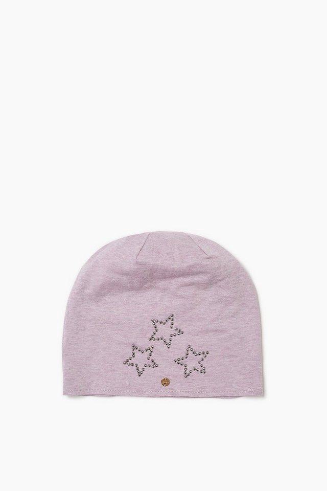 ESPRIT CASUAL Baumwoll Mütze mit Sternen aus Nieten in MAUVE