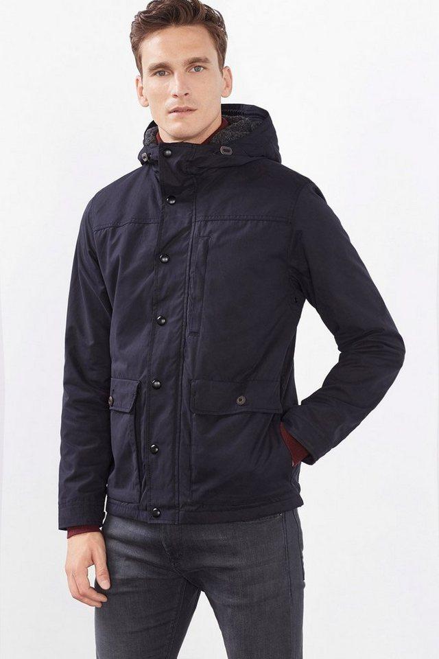 ESPRIT COLLECTION Leicht wattierte Baumwoll-Mix Jacke in BLACK