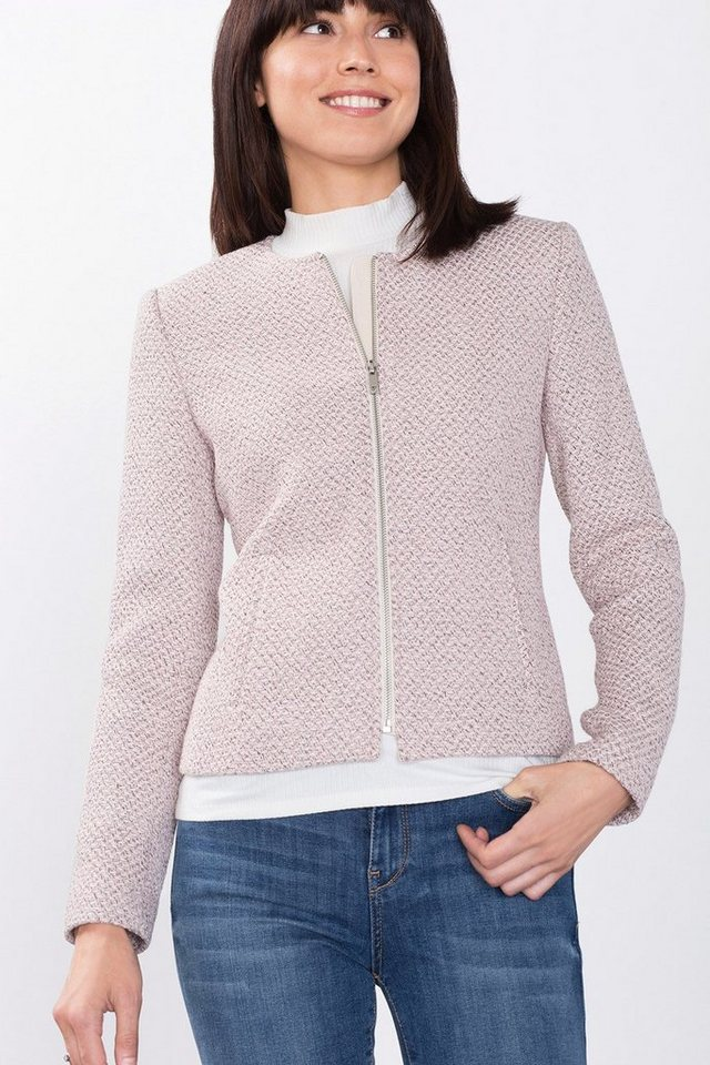 ESPRIT COLLECTION Puristische Blazer-Jacke in Webstruktur in OLD PINK