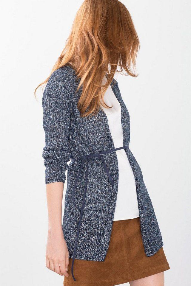 ESPRIT COLLECTION Struktur-Cardigan mit Mini-Pailletten in NAVY
