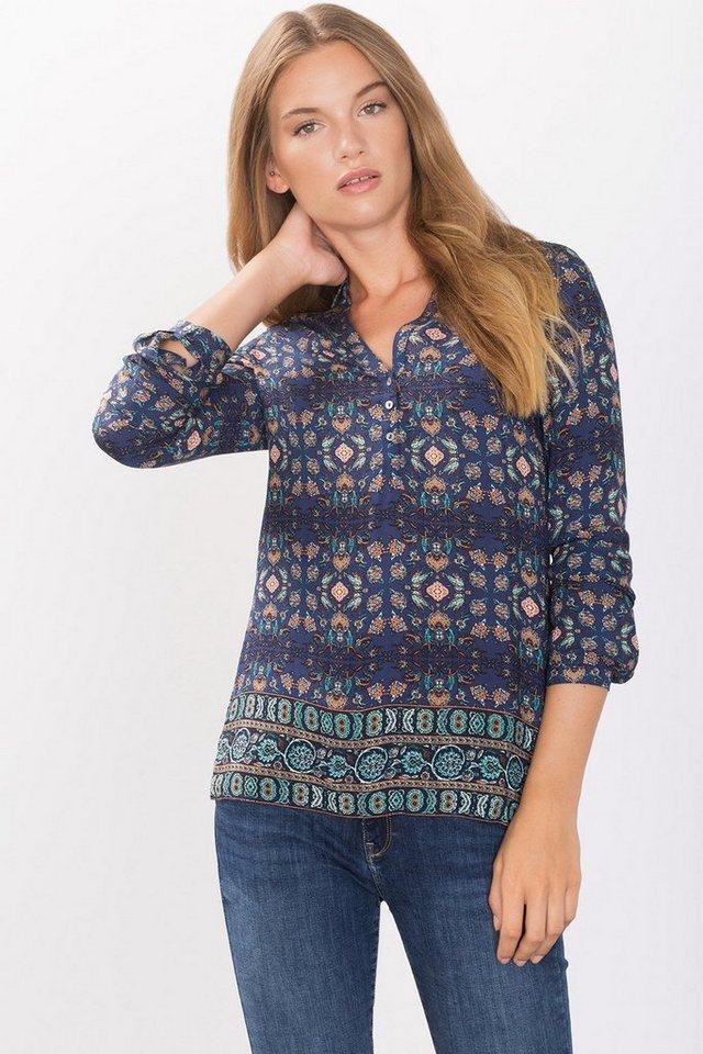 ESPRIT CASUAL Zarte Bluse mit Y-Ausschnitt in NAVY