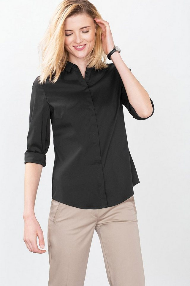 ESPRIT COLLECTION Stetch Hemdbluse in BLACK