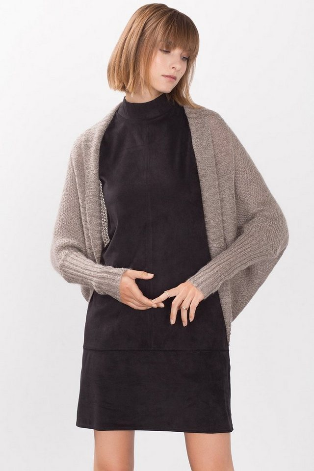ESPRIT CASUAL Batwing Cardigan aus Woll-Mix mit Mohair in TAUPE