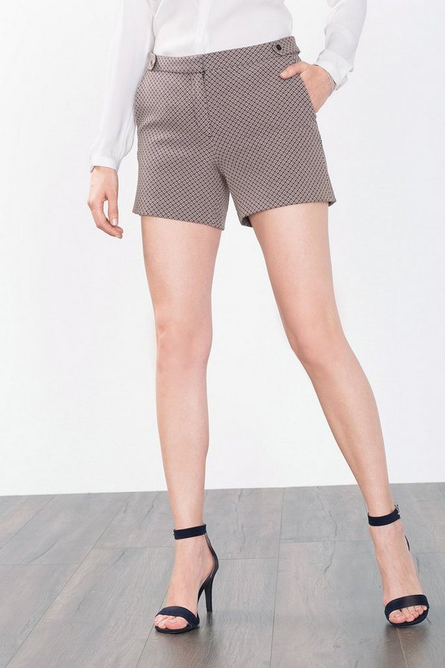 ESPRIT COLLECTION Stretch Jacquard Shorts mit Mini-Muster in NAVY