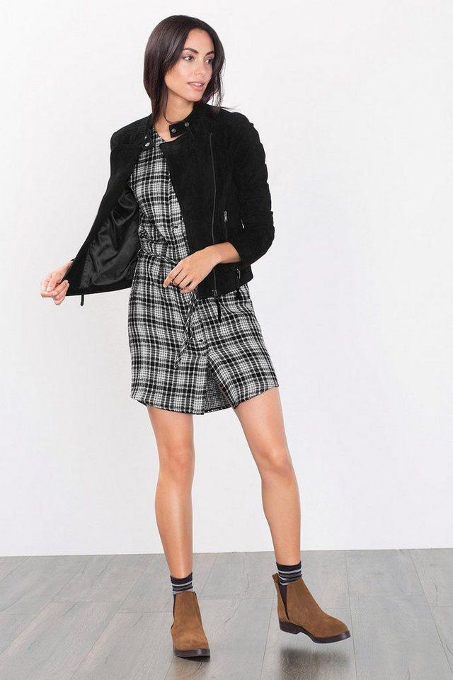 ESPRIT CASUAL Doubleface-Kleid aus 100% Baumwolle in BLACK
