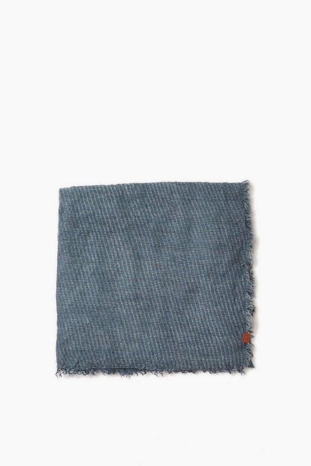 ESPRIT CASUAL Weicher Webschal mit Alpaka-Anteil in GREY BLUE