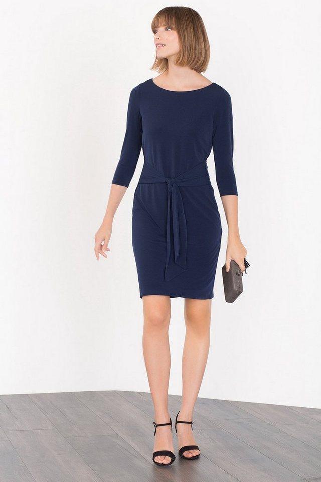 ESPRIT COLLECTION Schimmerndes Stretch-Jersey-Kleid in NAVY