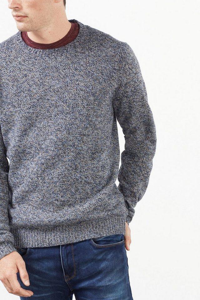 ESPRIT CASUAL Woll-Mix Pulli aus mehrfarbigem Strick in NAVY
