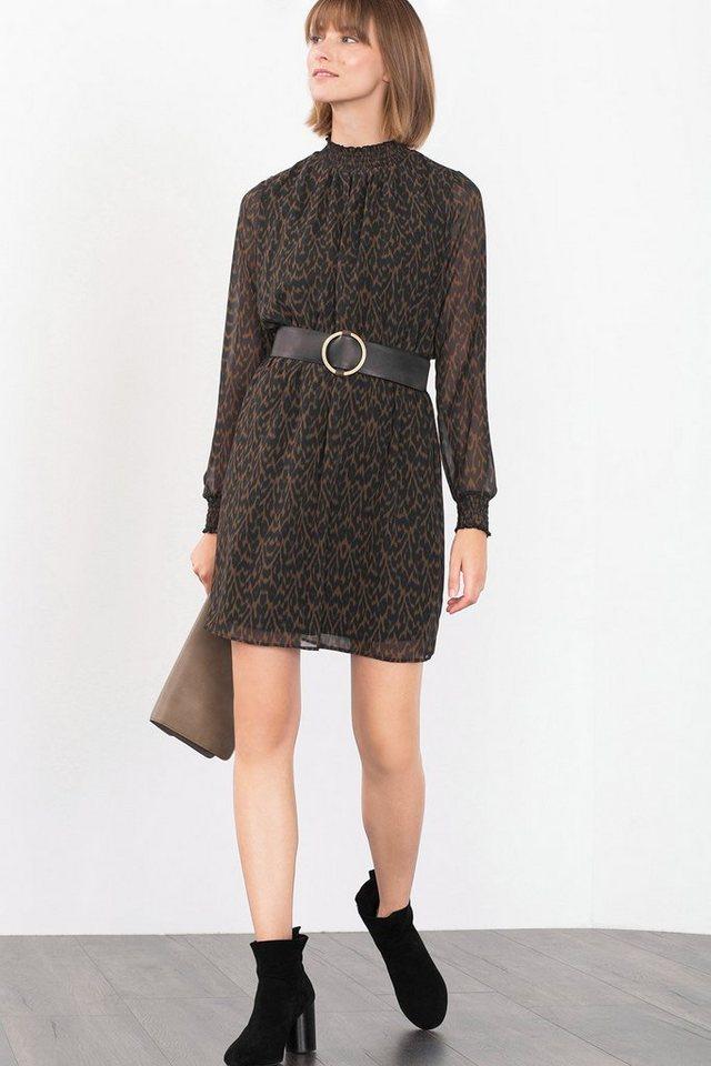 ESPRIT CASUAL Zartes Kleid mit Smok-Details in BLACK