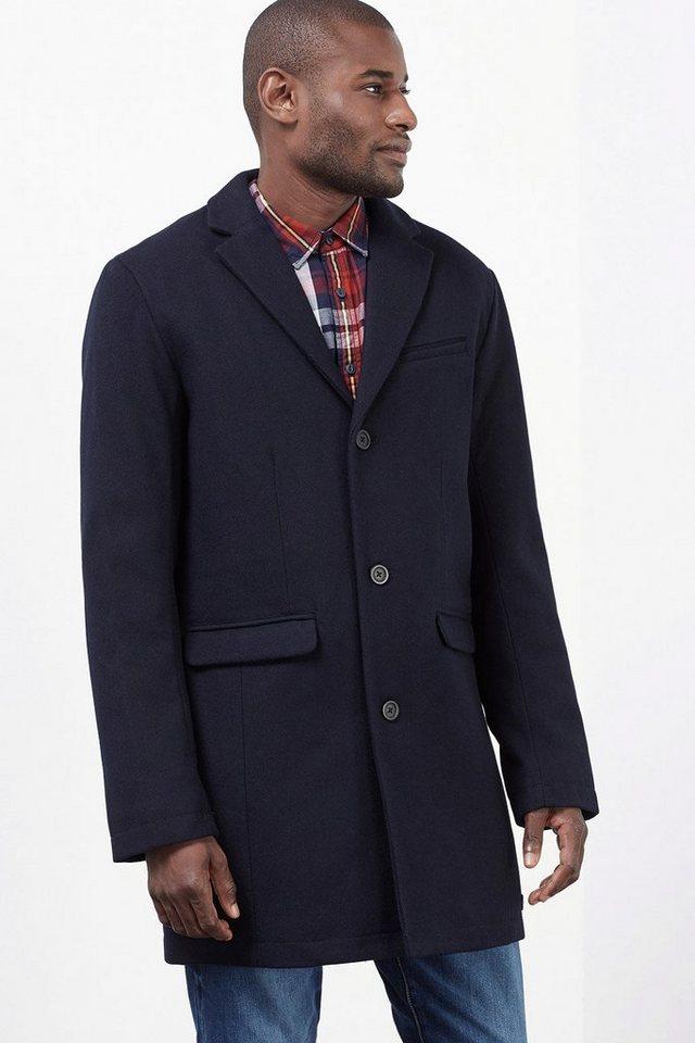 EDC Wattierter Mantel aus Schurwoll-Mix in NAVY