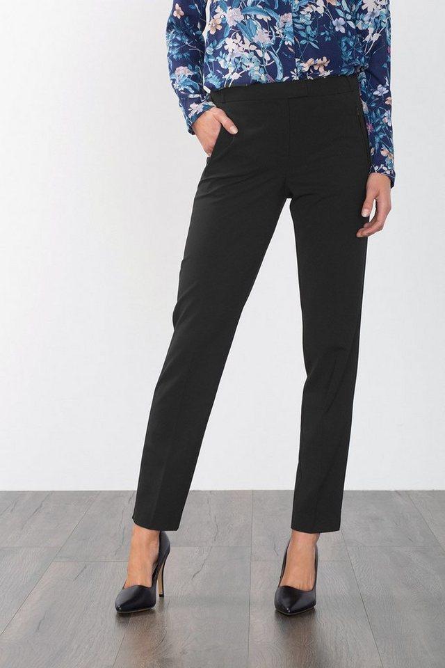 ESPRIT COLLECTION Business-Hose mit gezippten Taschen in BLACK