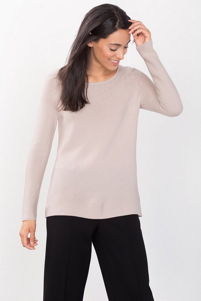 ESPRIT COLLECTION Locker fallender Wollmix-Sweater in SAND
