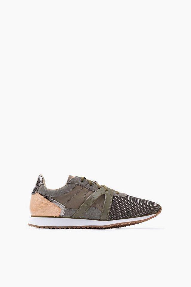 ESPRIT CASUAL Trend-Sneaker aus Textil in DARK KHAKI