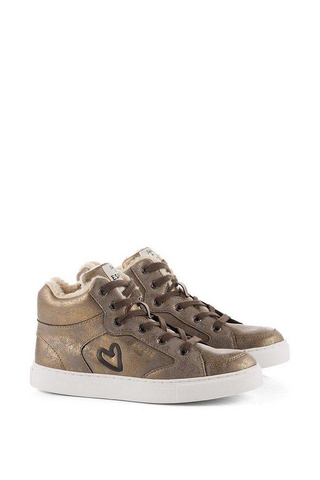 ESPRIT Metallic Sneaker Bootie in COPPER