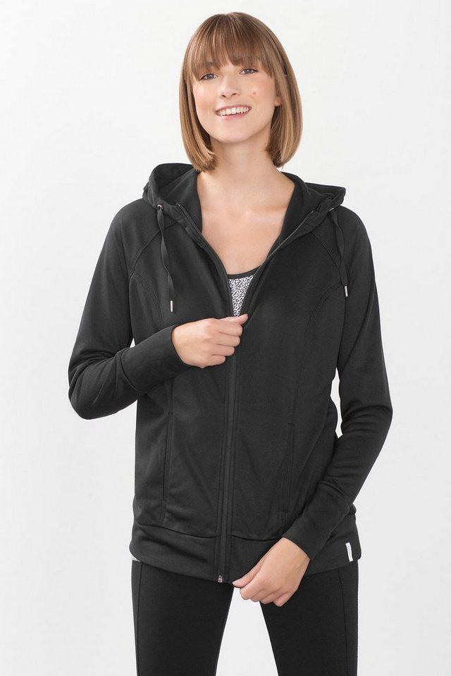 ESPRIT Sport Funktions Hoodie mit Innen-Fleece in BLACK