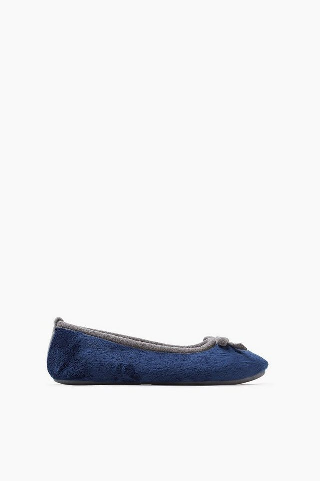 ESPRIT CASUAL Plüsch Home Ballerina in DARK BLUE