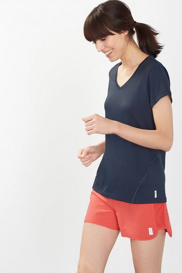 ESPRIT Weiches Funktions Jersey Sport T-Shirt in NAVY