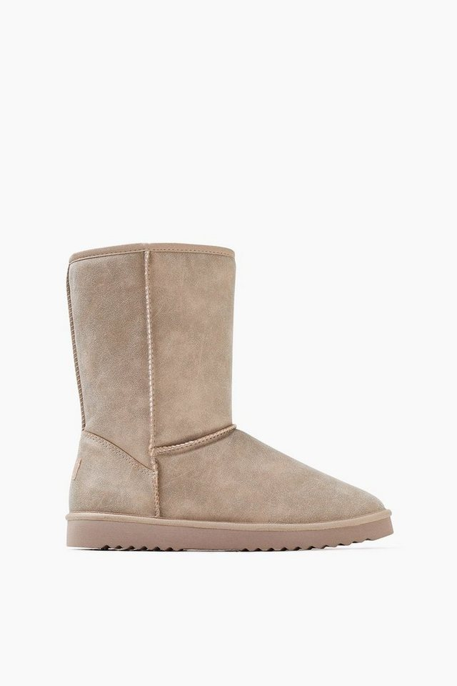 ESPRIT CASUAL Soft Boot mit Webfell-Futter in LIGHT TAUPE