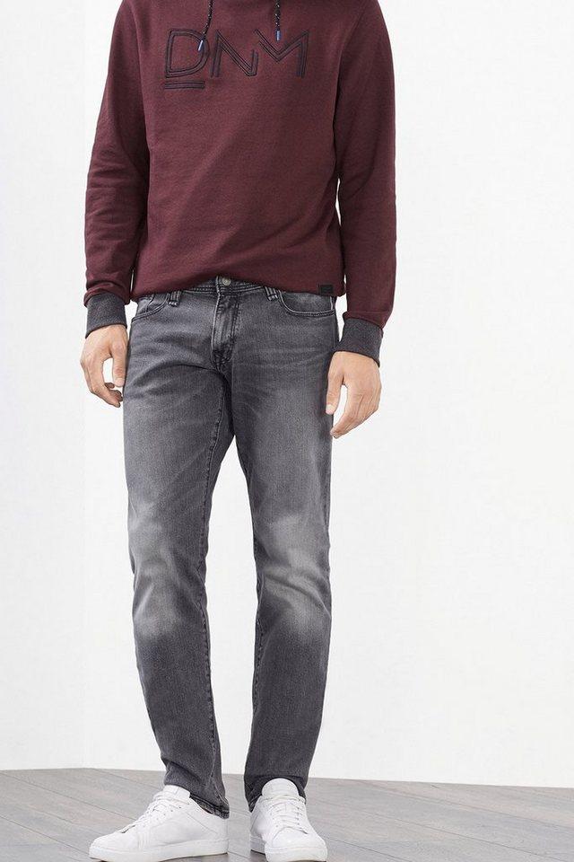 EDC 5-Pocket-Jeans aus Stretch-Denim in GREY MEDIUM WASHED