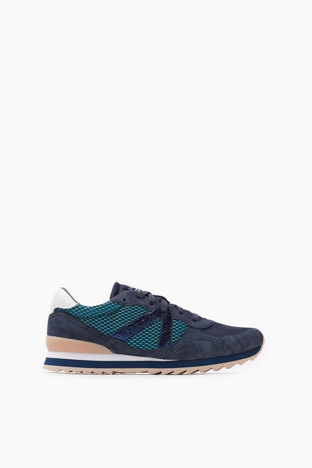 ESPRIT CASUAL Leichter Sneaker mit Kontrast-Details in NAVY