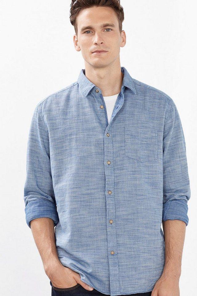 ESPRIT CASUAL 2Tone-Hemd mit Struktur, 100% Baumwolle in LIGHT BLUE LAVENDER