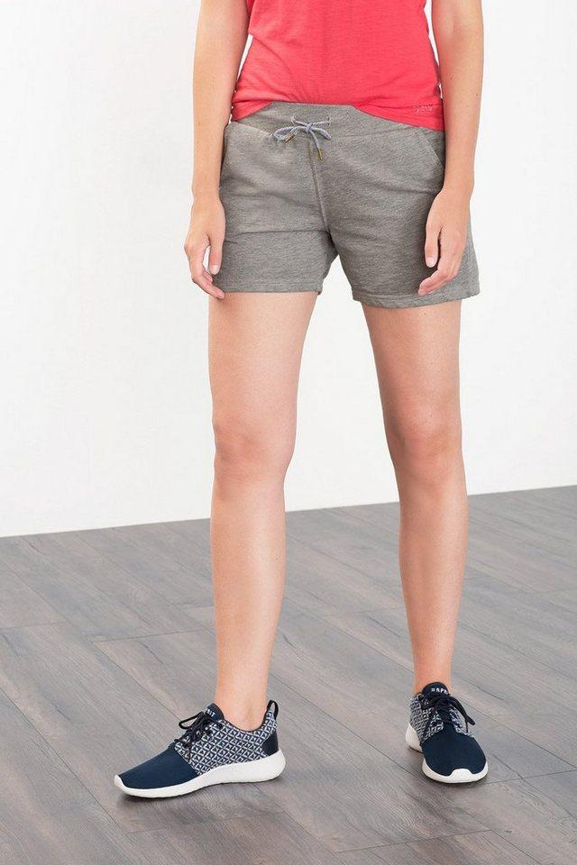 ESPRIT Sport Sweat-Shorts mit Used-Finish in MEDIUM GREY