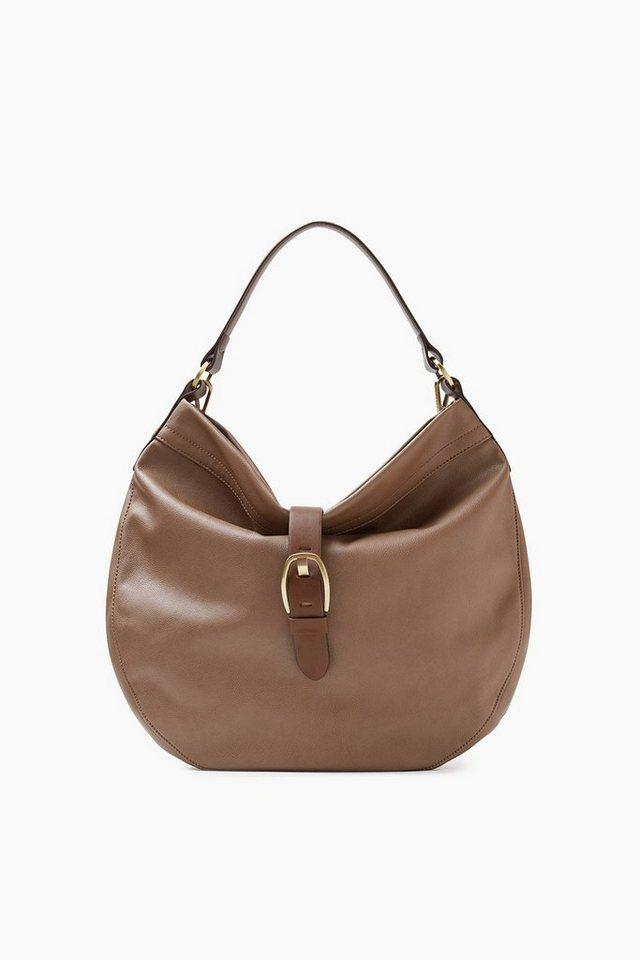 ESPRIT CASUAL Große City Bag in softer Lederoptik in TAUPE
