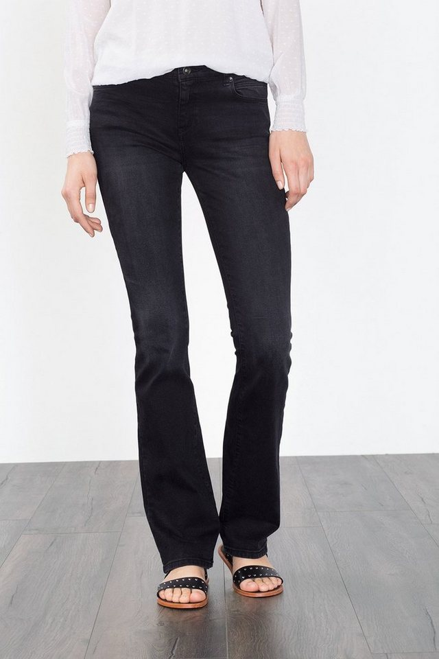 ESPRIT CASUAL Stretch-Denim mit leichtem Bootcut in BLACK MEDIUM WASHED