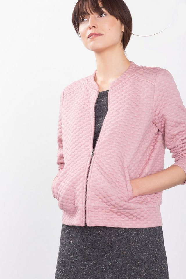 ESPRIT CASUAL Stepp-Blouson aus dichtem Jersey/Stretch in DARK OLD PINK