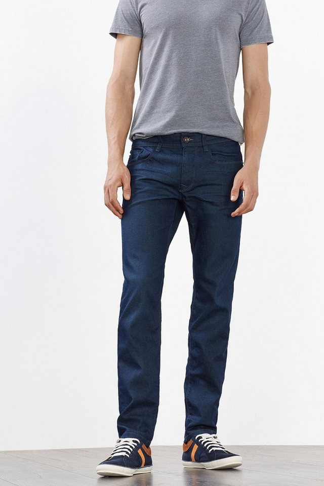 ESPRIT CASUAL Kernige Stretch-Jeans, dunkle Waschung in BLUE DARK WASHED