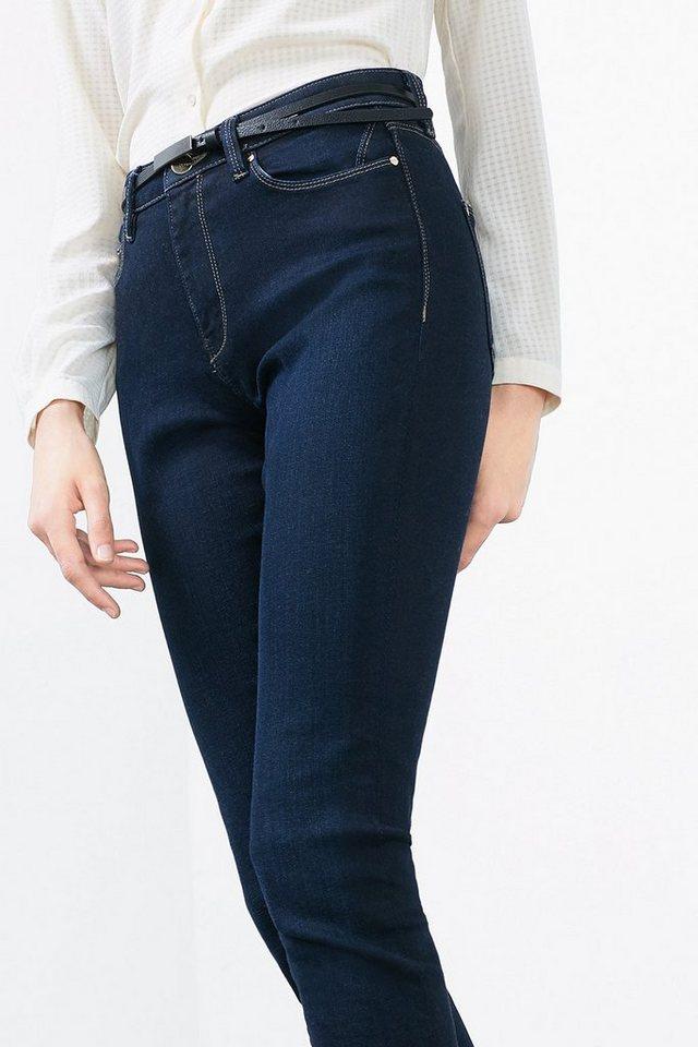ESPRIT COLLECTION 5-Pocket Jeans aus Stretch Denim in BLUE DARK WASHED