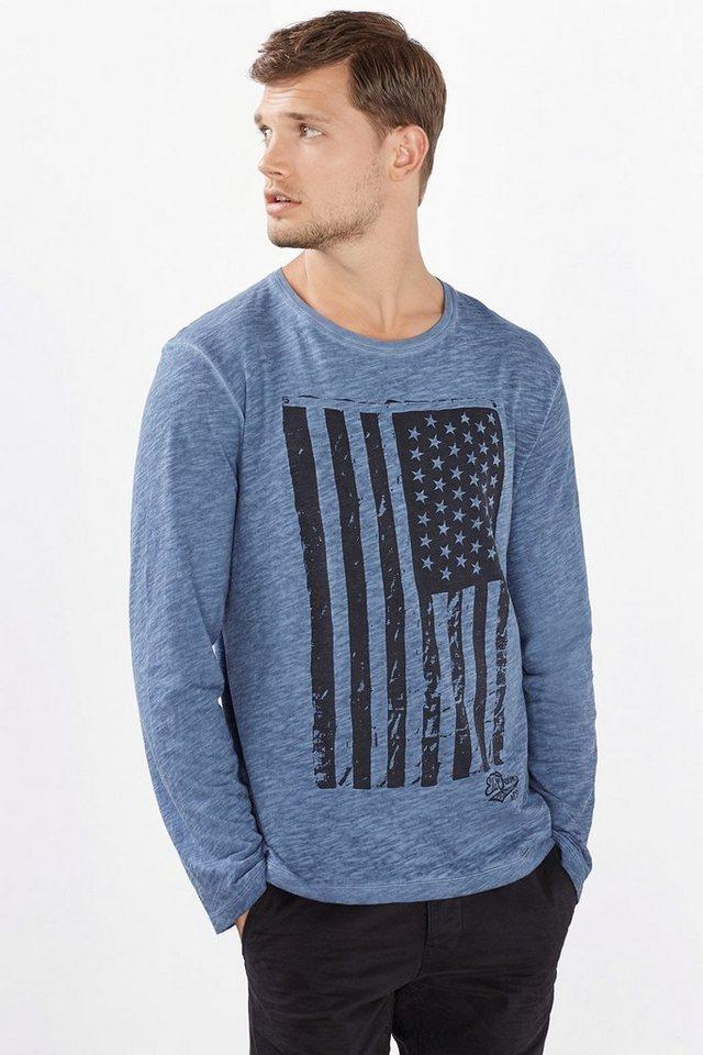 EDC Vintage Jersey Shirt, 100% BW in BLUE
