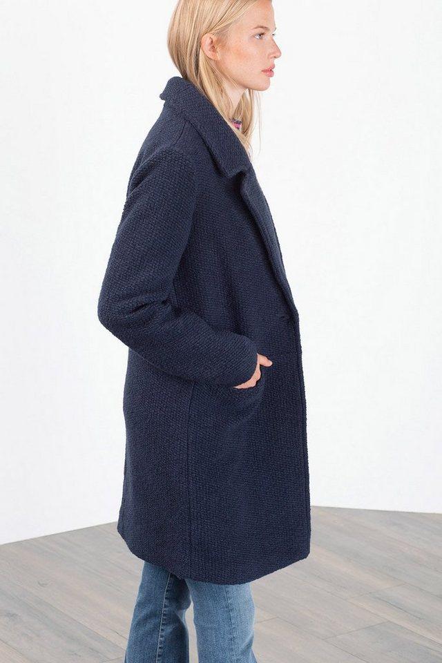 EDC Strukturierter Mantel mit Wolle in NAVY